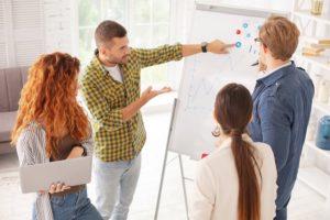 Teamarbeit beim Webdesign für WordPress