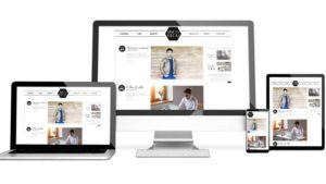 Mit WordPress erstellte Website auf verschiedenen Geräten